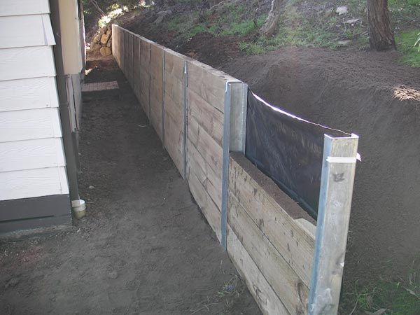 wood retaining walls | ... Wall , Pine Sleeper Wall , Retaining Wall , West Coast Retaining Wall  Looks great - one for when I win the lottery!