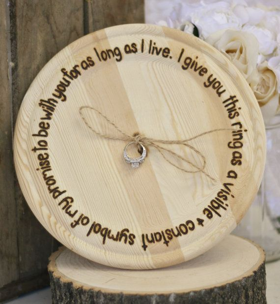 Rustic Ring Bearer Pillow by braggingbags on Etsy, $49.99
