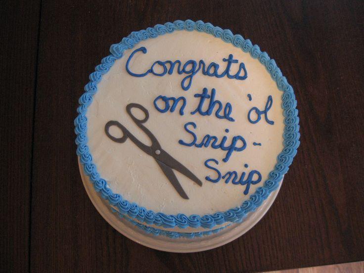 Vasectomy Cake Ideas
