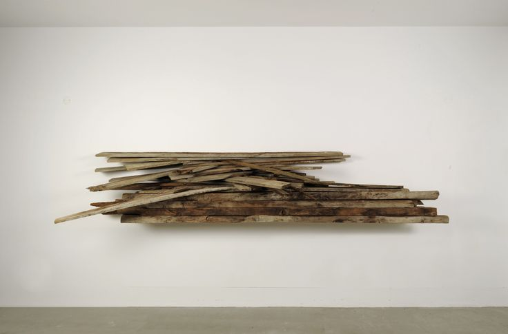 James Beckett, Stack Façade 1, 2011, mixed deteriorated exotic woods / legni esotici deteriorati, 282 x 120 x 26 cm