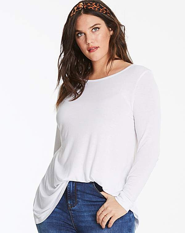 8003d1ba9577c4 Black/ Wht 2 Pack Long Sleeve Swing Tops   Simply Be   I want ...