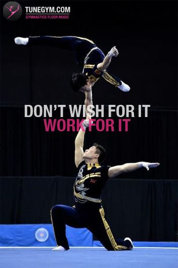so true nothing really comes easy in gymnastics you have to work for it and that moment you get it it is the best feeling in the world N-O-T-H-I-N-G is like that feeling!!!!!