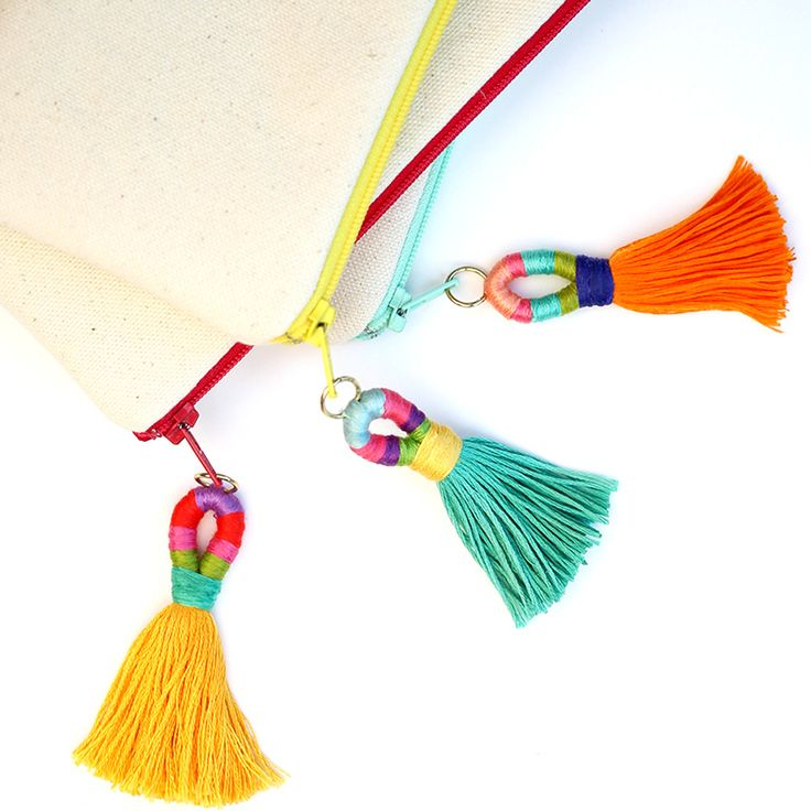 How To: Make Color-bombed Insanely Cool DIY Tassel Keychains