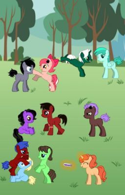 #wattpad #fanfiction Yes. That is a blue coated blonde haired pony at the bottom named Garroth.