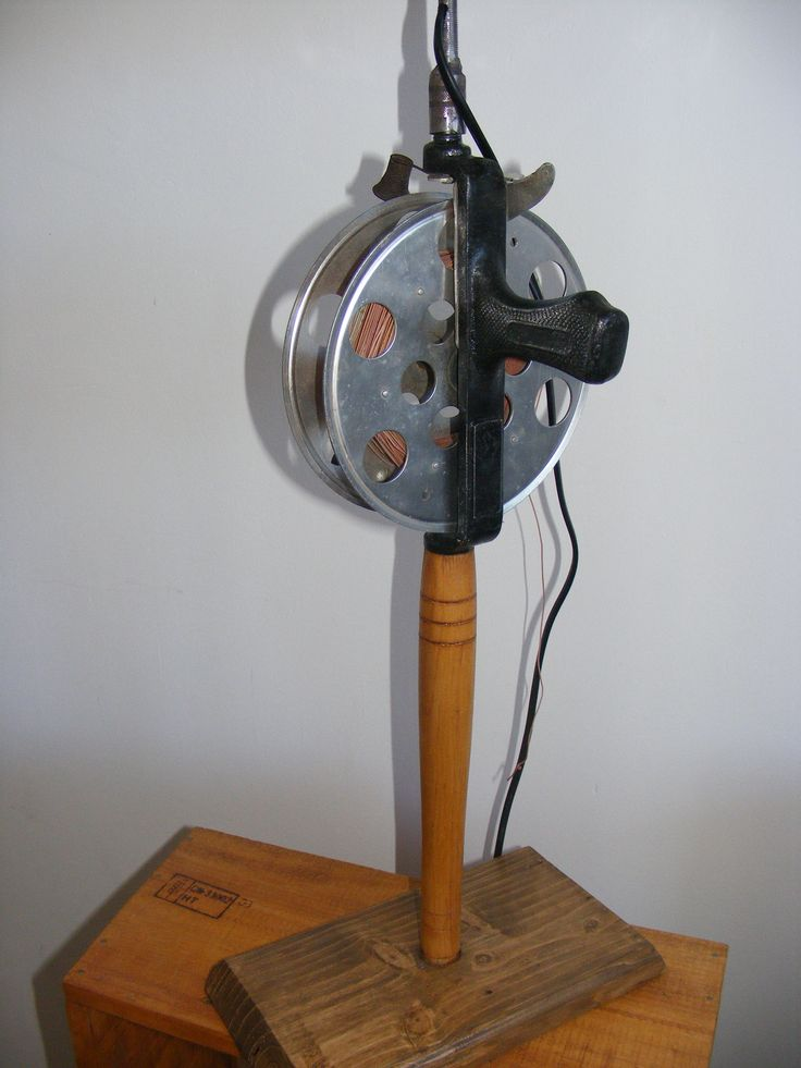 Vintage Russian fishing rod lamp .