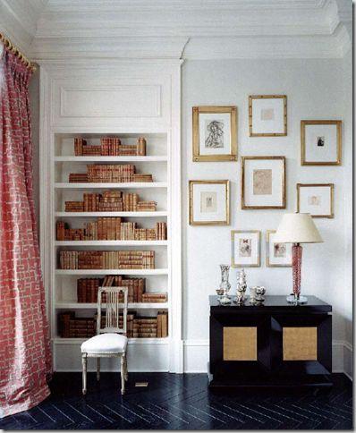 herringbone floor from Suzanne Kasler's book 'Inspired Interiors' #herringbone #floors #flooring: Worth Reading, Bookshelves, Frames, Books Worth, Interiors Design, Design Books, Bookca, Inspiration Interiors, Suzann Kasler