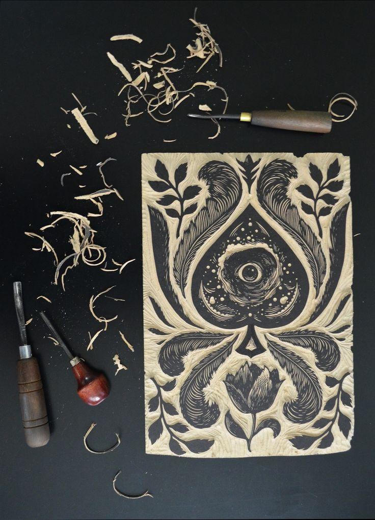 ramon rodrigues woodcut printing block
