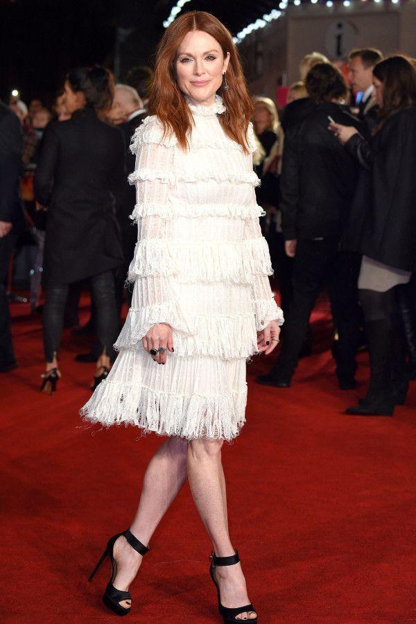 Julianne Moore - even a pale girl can look fabulous in white
