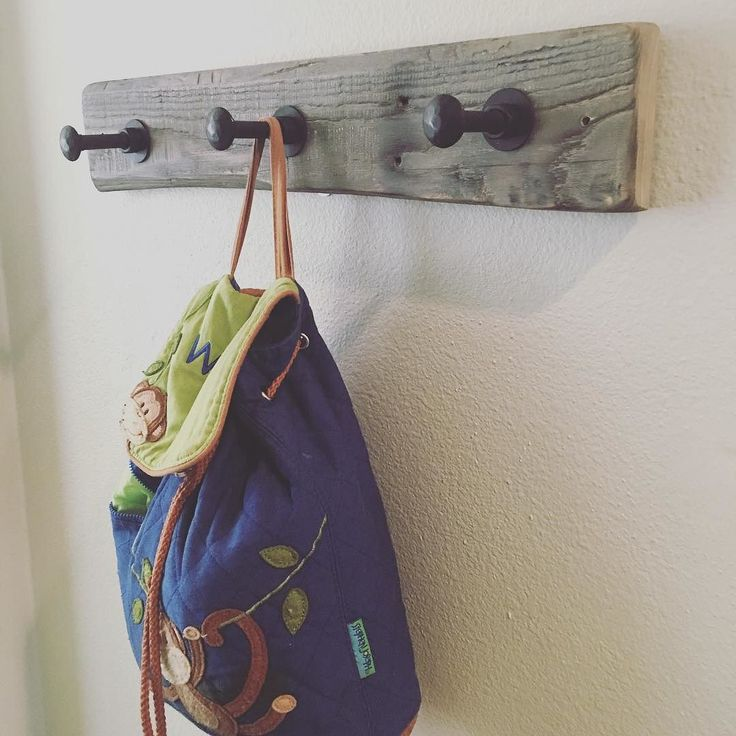 My buddy made this for our new place along with a growth chart for our son. Will post a photo of the chart soon. Find their woodsy woodwork at on Etsy under shop name Brennanswoodworks #rustic #charming #towelrack #coatrack #woodwork #woodworking #handmade #loveit #quality #entryway #wood de createandship