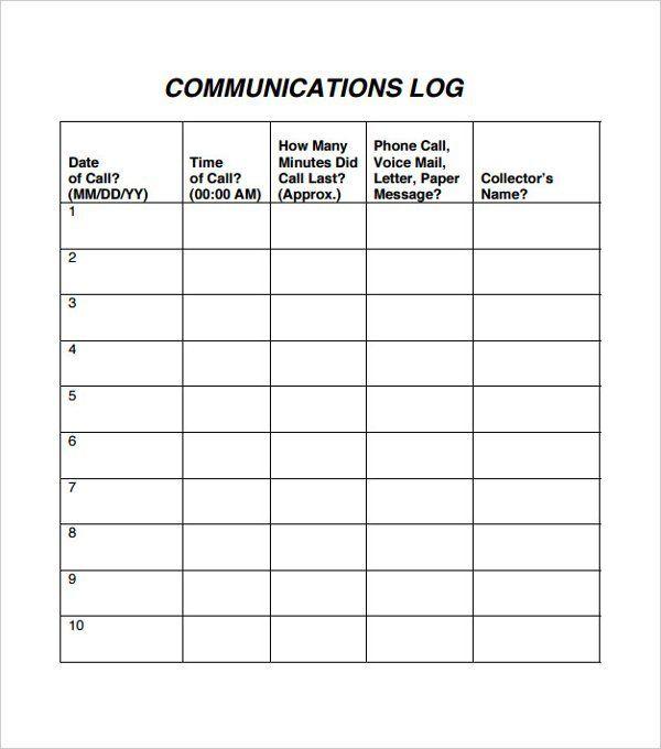 29 images of communication log template 24 | splinket. Com.