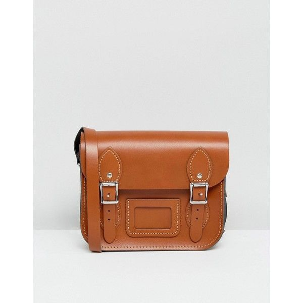 Leather Satchel Company Mini Satchel ($71) ❤ liked on Polyvore featuring bags, handbags, tan, real leather handbags, mini satchel handbags, leather satchel, mini satchel purse and leather satchel purse