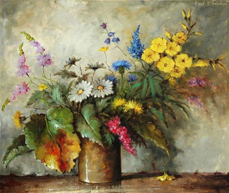Цветочное... Carl Holger Fischer - ЧУДНЫЕ МГНОВЕНИЯ ВЕСЕЛОГО И ГРУСТНОГО