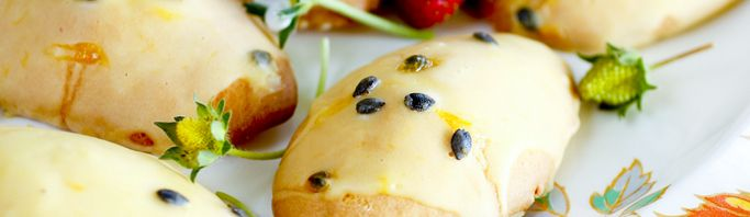 Passionfruit Puff Biscuits
