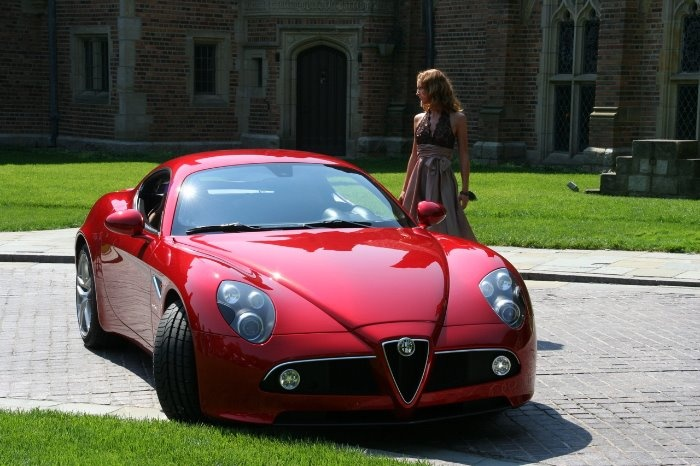Alfa Romeo in red.