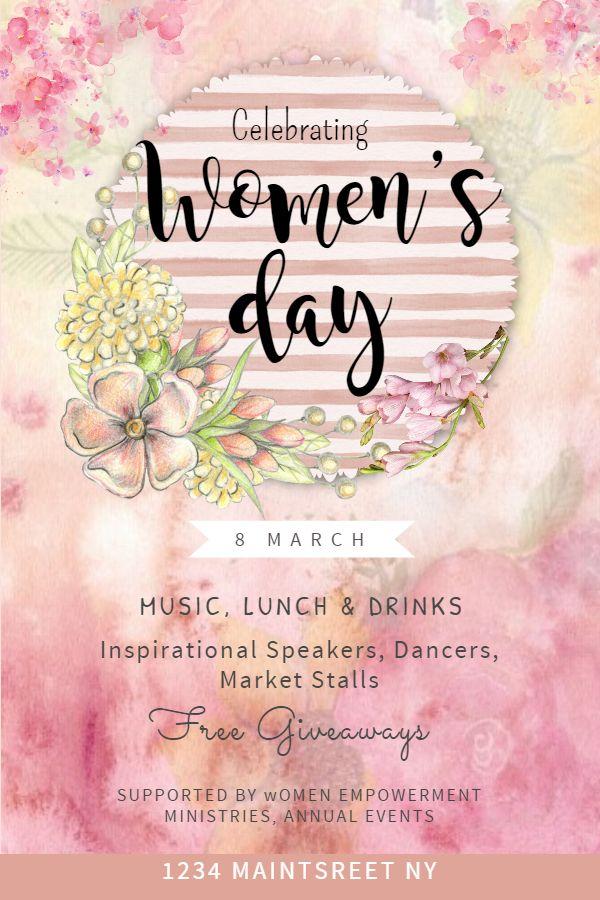 International Women S Day Event Flyer Poster Template Pink Party Flyer Flyer Flyer Template