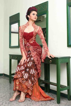 Gorgeous Red Kebaya
