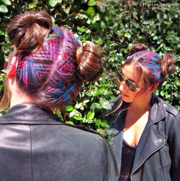 Now this is festival hair. #refinery29 http://www.refinery29.com/2016/05/111366/hair-stenciling#slide-5
