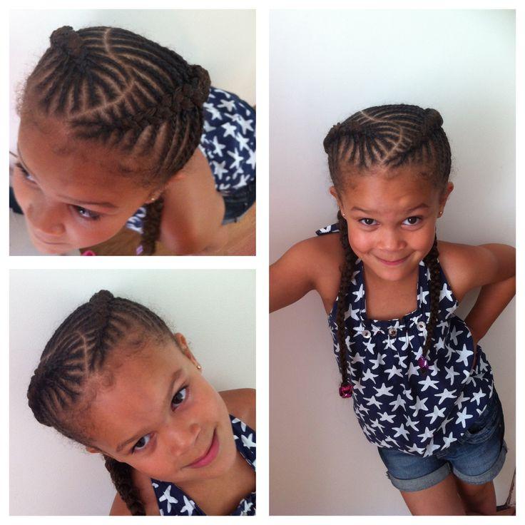 Fishbone braids, cornrows for girls, natural hair
