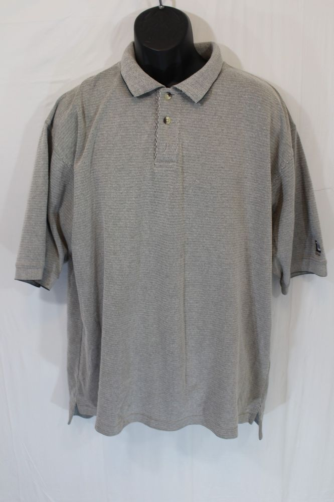 VTG Wilson Golf Polo Shirt Mens Size XL Gray Soft Short Sleeve 8247 #Wilson #PoloRugby