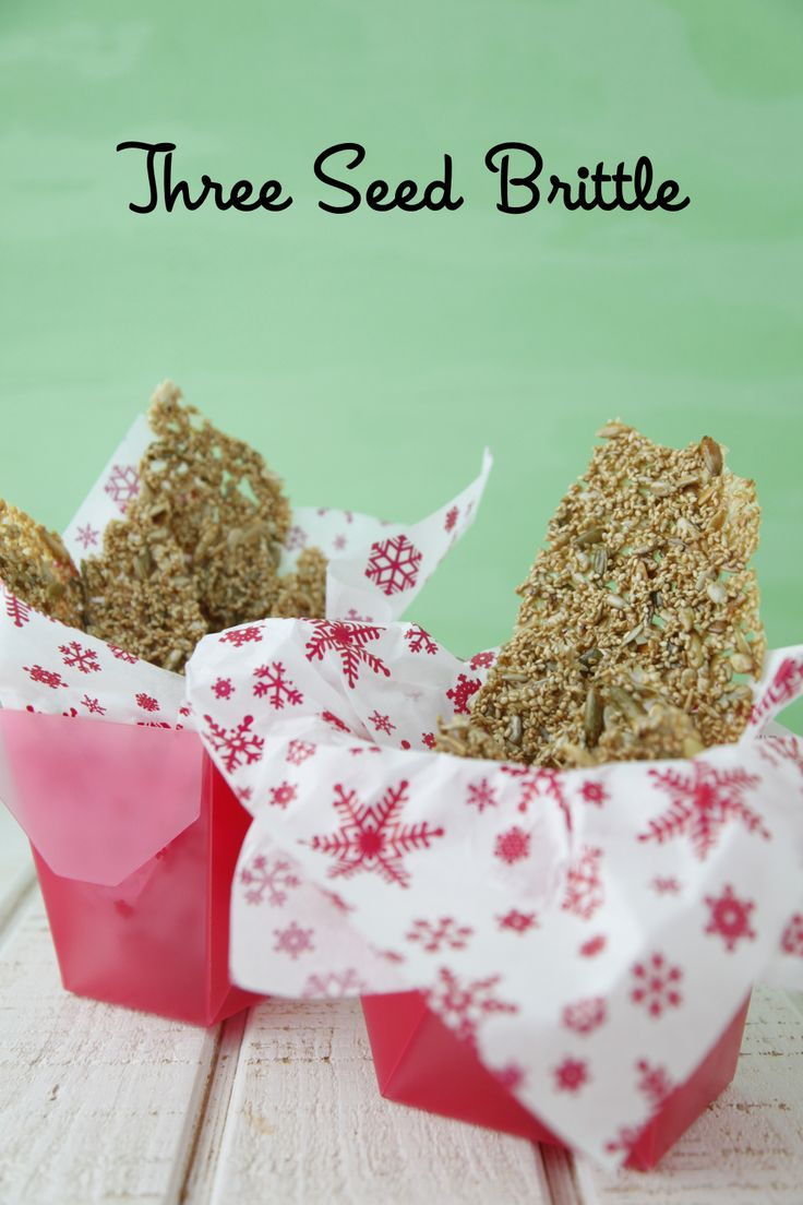 Three Seed Brittle: A DIY Nut Free Holiday Treat from Weelicious