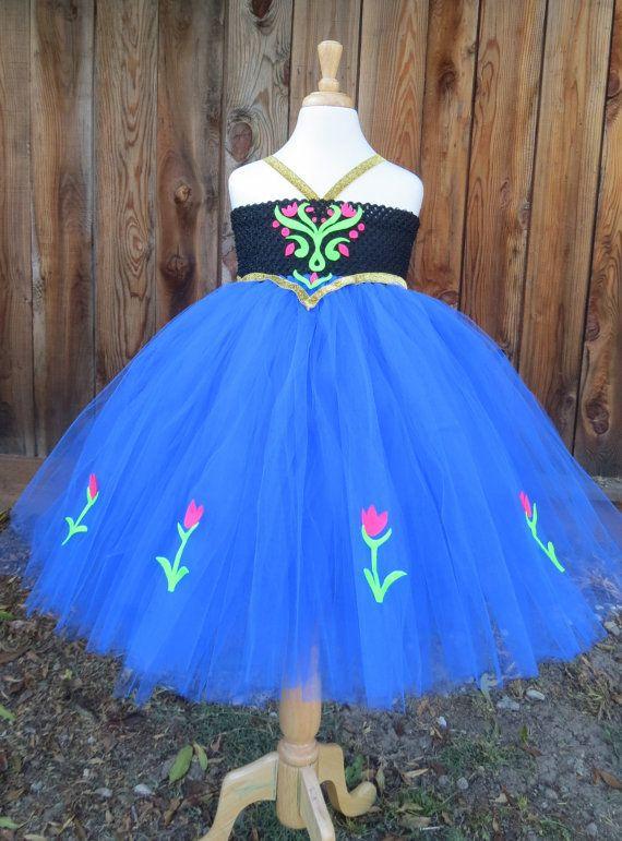 Anna Frozen Dress/ Anna dress with cape/ Free by MyCuteFrills