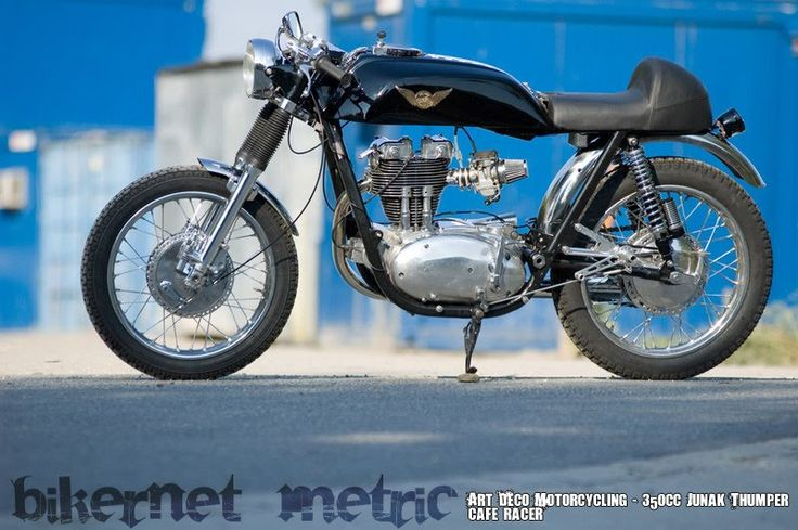 pannonia 350cc thumper cafe   art deco motorcycling