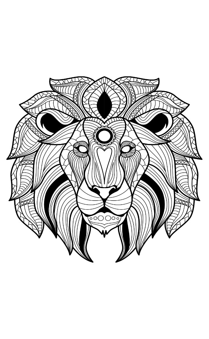 Cuddly lion coloring pages