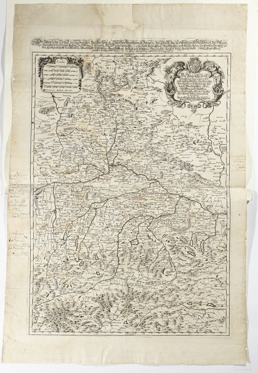 Karta över Bayern, 1600-tal./ Map of Bayern, 17th century.