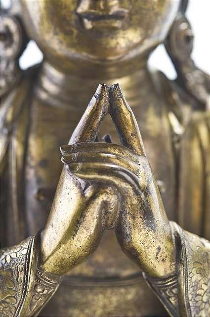 Uttarabodhi mudra…the mudra of supreme enlightenment.