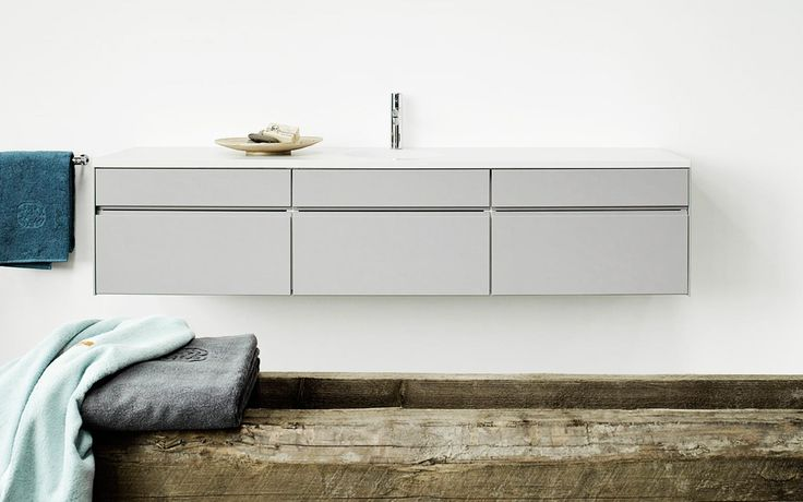 Form 2 // light gray with a white corian countertop bathroom by Multiform