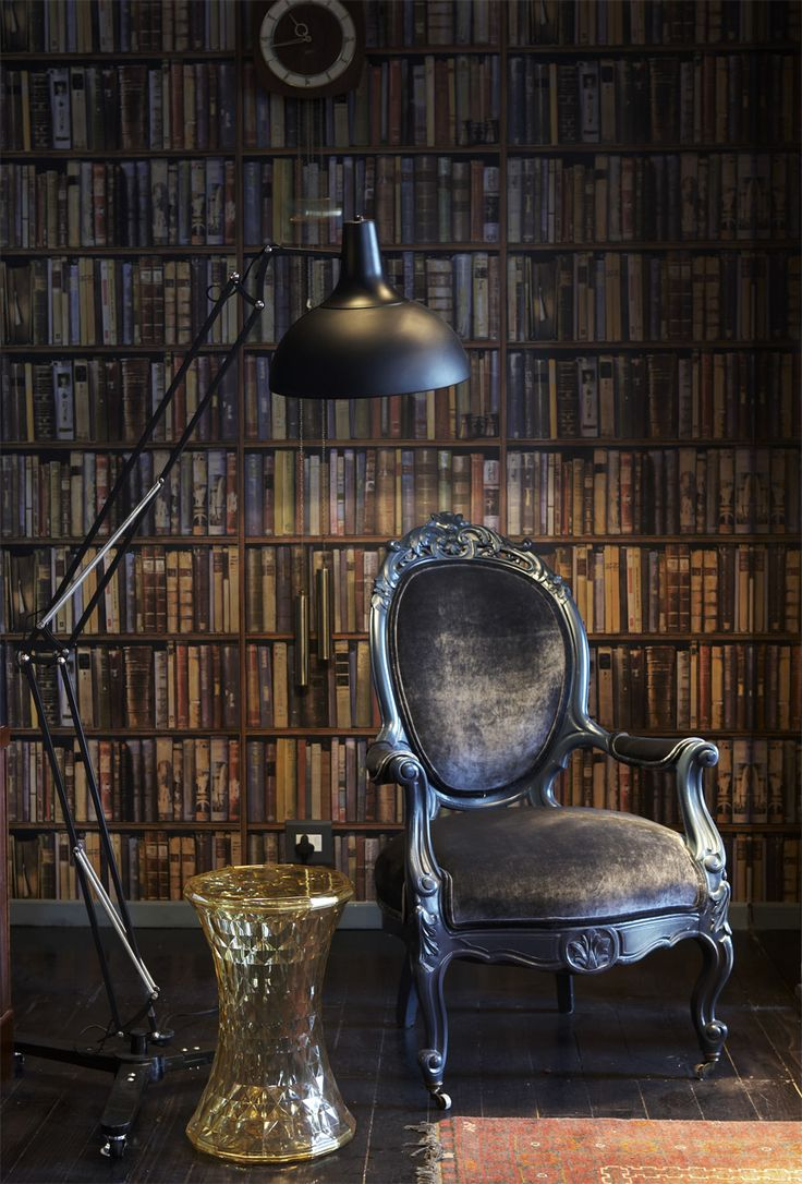 Boutique hotel | Lounge | book wallpaper | Andrew Martin | Kartell | Etienne Hanekom Interiors