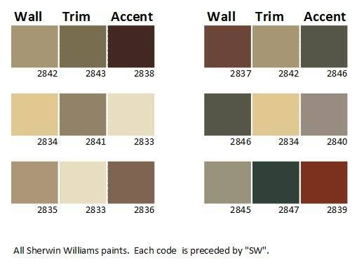 Exterior paint palletes for Craftsman exterior color schemes