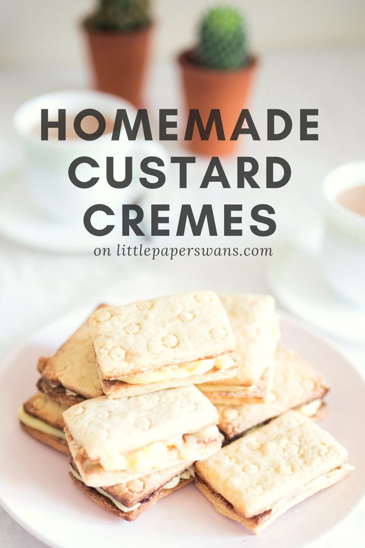 Homemade Custard Cremes