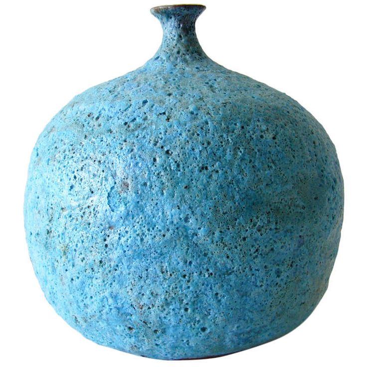 Beatrice Wood Foamy Blue Lava Vase |  http://www.1stdibs.com/furniture/dining-entertaining/vases/ Wood lived a very long and colorful life including being involved in Vaudeville and friends of artists from the Dada period. She also studied with master potters Gertrud and Otto Natzler. Wood died in 1998 in Ojai, California at the age of 105 years.