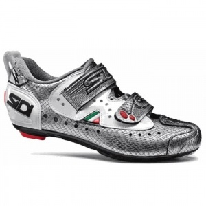 SALE - Sidi T-2.6 Carbon Cycle Cleats Mens Silver - Was $339.95. BUY Now - ONLY $237.97
