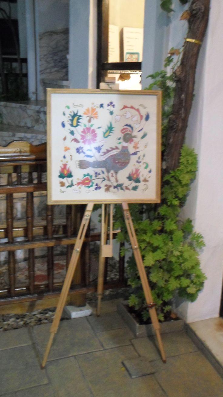 Ζωγραφική σε ύφασμα by Ευαγγελία Ανδρέου.