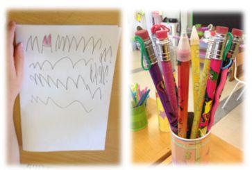 """PY 1 - Uke 38; Vi hadde lest boken """"Lille Lykke skriver"""" og barna var supermotiverte for å starte sine skriverier! Barna laget alt fra bøker, eventyr bursdagslister og kort, til hemmelig dagbok og plakater. Ekstra gøy var det når de endelig fikk bruke de store, magiske blyantene våre:)"""