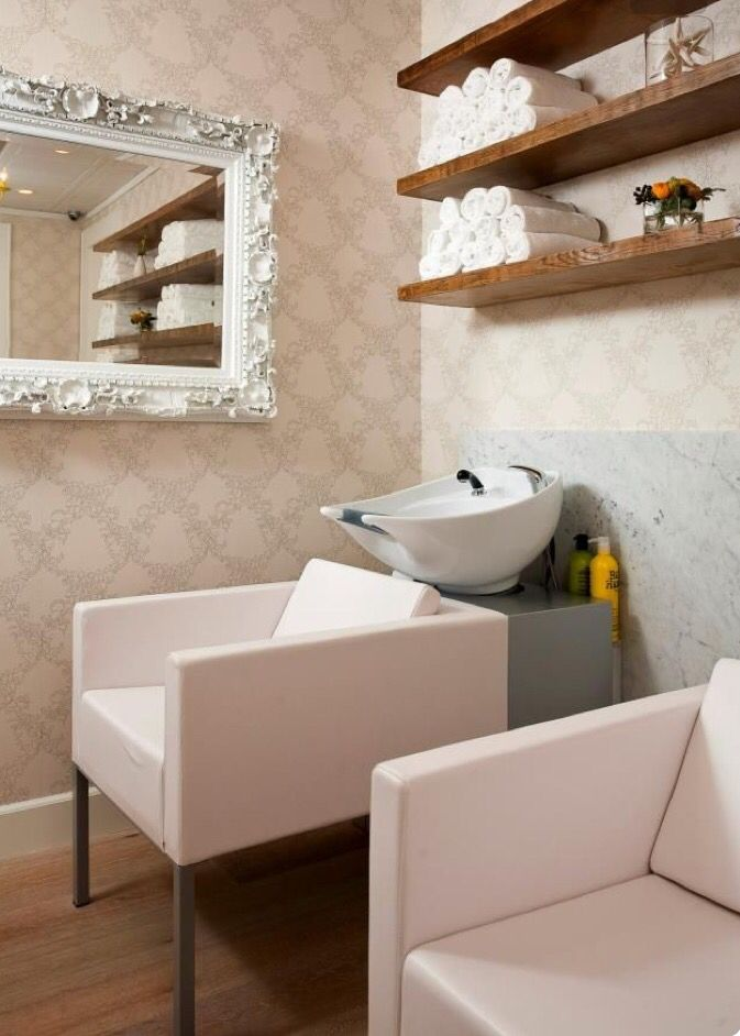 home salon design. Cute wash area  Salon SalonHome 60 best Spa Boutique images on Pinterest Hairstyle Barber
