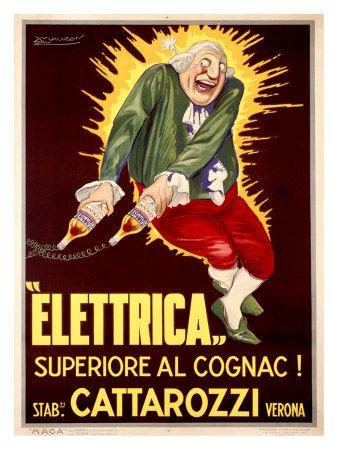 Elettrica Cattarozzi Cognac Stampa giclée