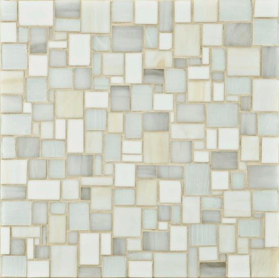 Ann Sacks Mosaic Bathroom Tile: ANN SACKS Chrysalis Large Applique Glass Mosaic In Rain