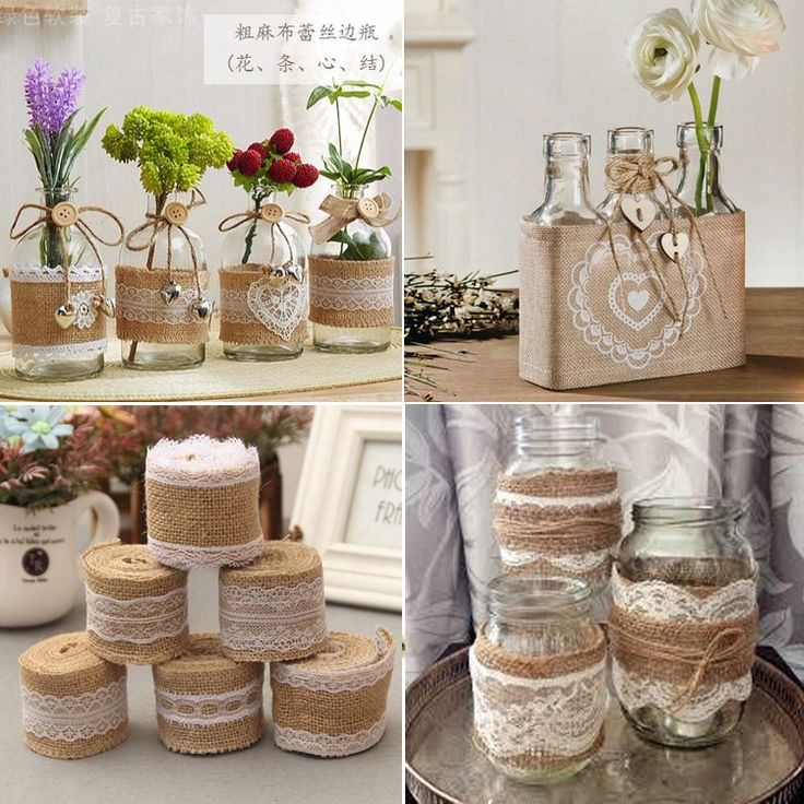 Cheap hessian ribbon, Buy Quality burlap wedding directly from China burlap roll Suppliers: 2 Meter 5cm Jute Burlap rolls Hessian Ribbon with Lace rustic vintage wedding decoration supplies diy ornament burlap wedding