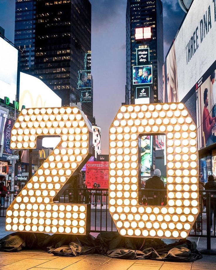 """Times Square NYC on Instagram """"The 2020 numerals have"""