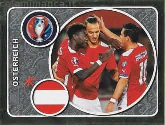 UEFA EURO 2016™ Official Sticker Album: Fronte Figurina n. 573 Österreich Team