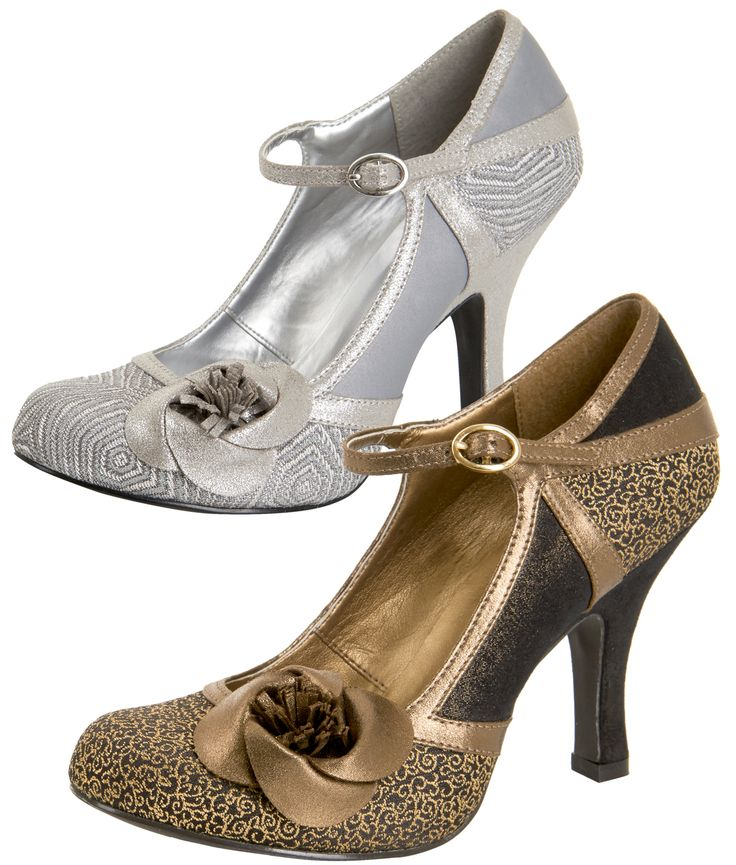 Ruby Shoo Ladies Belle Metallic Occasion Shoes | Tiger Milly