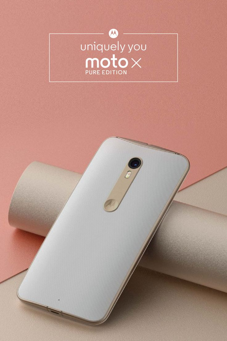 You've got a unique style that's all your own, so why shouldn't your phone reflect that? With the Moto X Pure Edition, you can customize the details of your smartphone to meet your needs and fit your personal look. Click to start designing your own with Moto Maker, our online design studio.