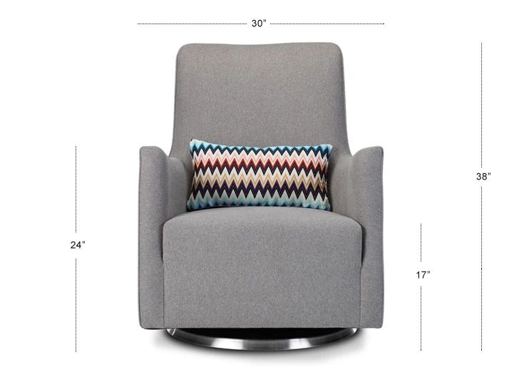 Grazia Glider | Contemporary nursery furniture, Swivel ...