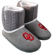 Oklahoma Sooners Women's Knit Booties - Gray