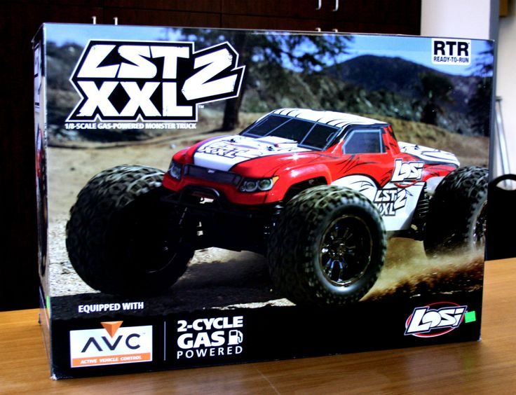 New arrival in the RC Car department at the south store! The Losi 1/8 LST XXL 2 gas-powered monster truck