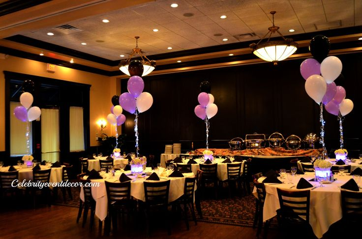Lighted sweet sixteen table centerpieces
