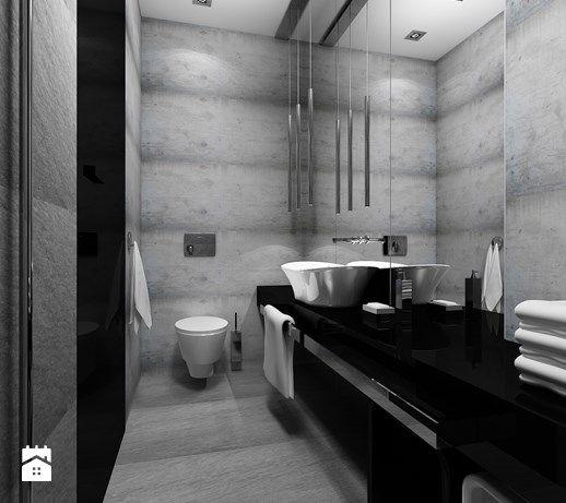Łazienka w czerni - zdjęcie od Kameleon - Kreatywne Studio Projektowania Wnętrz